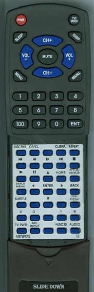 LG AKB73615702 AKB73615702 Custom Built Replacement Redi Remote