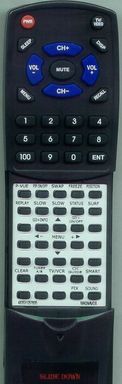 MAGNAVOX 483531057635 Custom Built Replacement Redi Remote