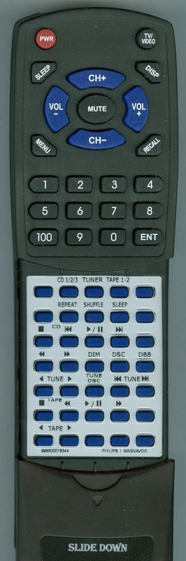 MAGNAVOX 996500018344 Custom Built Replacement Redi Remote