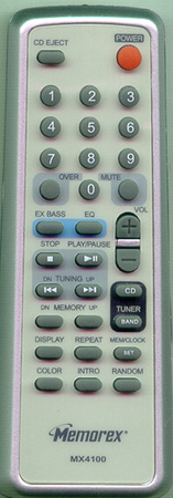 MEMOREX 0MX4100REMCON MX4100 Genuine  OEM Original Remote