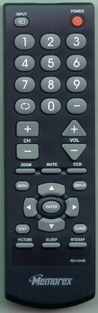 MEMOREX 6010V01902 RC-V19-0B Genuine  OEM Original Remote