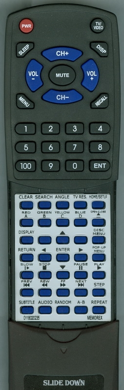 MEMOREX 0118020235 Custom Built Redi Remote