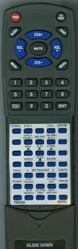 MEMOREX 076N0CG020 Custom Built Redi Remote