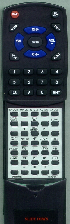 MEMOREX 076R0DT090 Custom Built Redi Remote