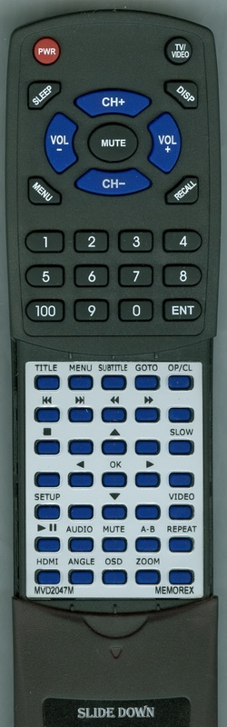 MEMOREX MVD2047M Custom Built Replacement Redi Remote