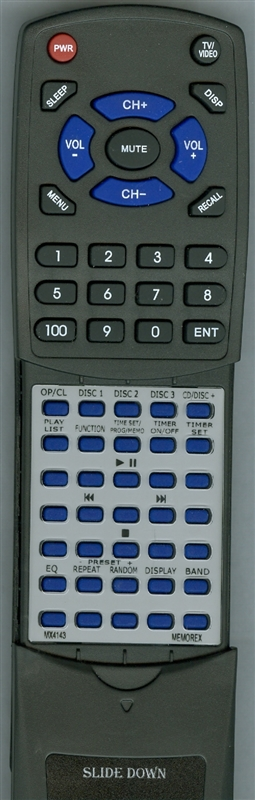 MEMOREX MX4143 Custom Built Redi Remote