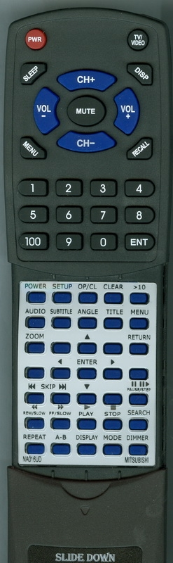 MITSUBISHI NA016UD RM-D9 Custom Built Replacement Redi Remote