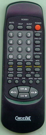 MOTEVA RC6001 Genuine  OEM Original Remote