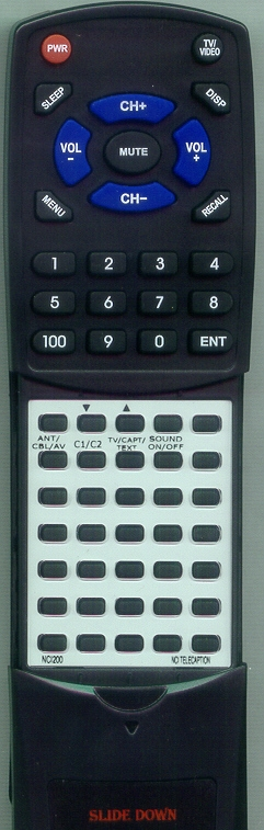 NCI TELECAPTION NCI200 Custom Built Replacement Redi Remote