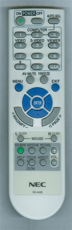 NEC 7N900881 RD-443E Genuine  OEM Original Remote