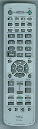 NEC 7N900961 RD-455E Genuine  OEM Original Remote