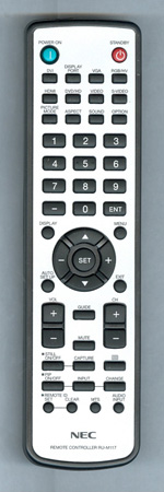 NEC 98GRABD1NENDS RU-M117 Genuine OEM Original Remote