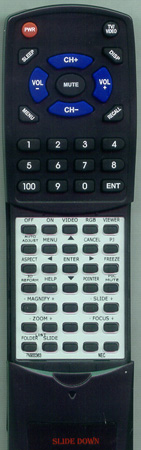 NEC 7N900363 RD392E Custom Built Redi Remote