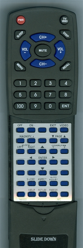NEC 7N900522 RD-409E Custom Built Redi Remote