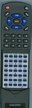 NEC J8200111 RU-M117 Custom Built Redi Remote