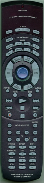 ONKYO 24140392A RC-392M Genuine  OEM original Remote