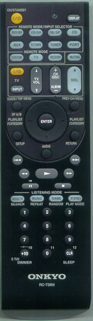 ONKYO 24140736 RC-736M Genuine OEM Original Remote