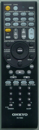 ONKYO 24140738 RC-738M Genuine  OEM Original Remote