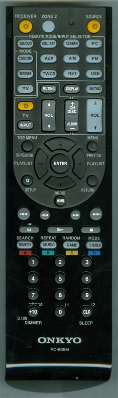 ONKYO 24140865 RC-865M Genuine OEM Original Remote