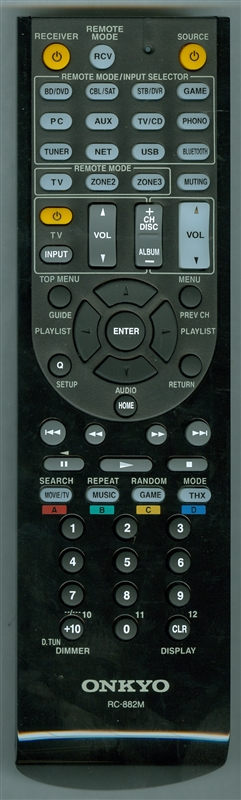 ONKYO 24140882 RC-882M Genuine OEM Original Remote