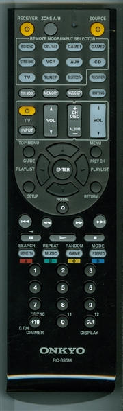 ONKYO 24140896 RC-896M Genuine OEM Original Remote