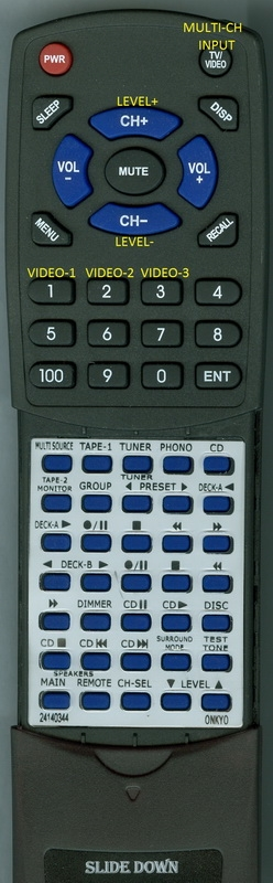 ONKYO 24140344 RC-344S Custom Built Redi Remote