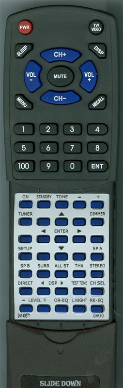 ONKYO 24140571 RC-571M Custom Built Redi Remote