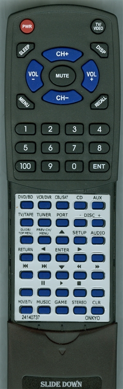 ONKYO 24140737 RC-737M Custom Built Replacement Redi Remote