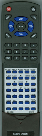 ONKYO 24140880 RC880M Custom Built Replacement Redi Remote