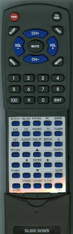 ONKYO 24140898 RC-898M Custom Built Redi Remote