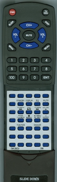 ONN ONA12AV024 Custom Built Replacement Redi Remote