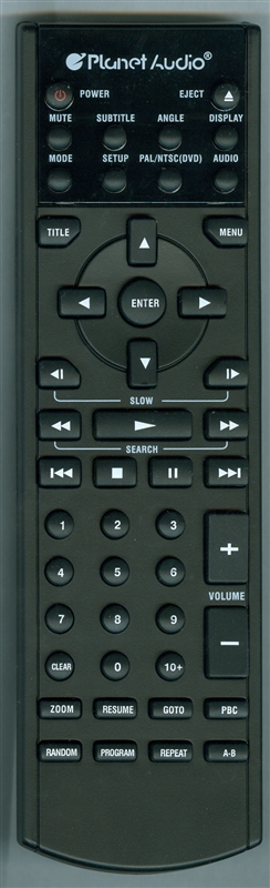 PLANET AUDIO P300DVD Genuine  OEM Original Remote