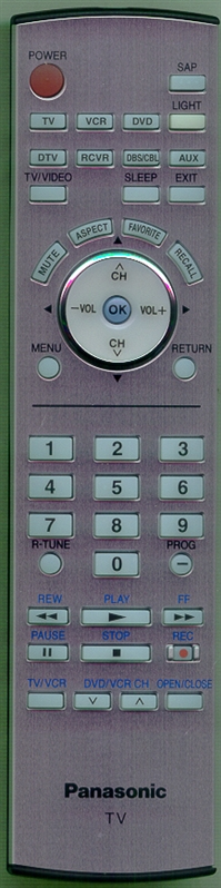 PANASONIC EUR7627Z60 Genuine  OEM Original Remote