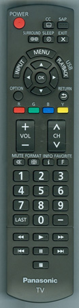 PANASONIC N2QAYB000806 Genuine OEM Original Remote