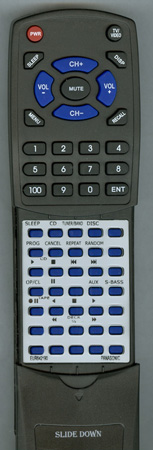 PANASONIC EUR642190 EUR642190 Custom Built Redi Remote