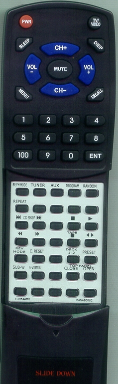 PANASONIC EUR644861 Custom Built Redi Remote