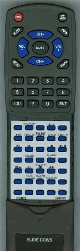 PANASONIC EUR644862 Custom Built Redi Remote