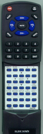 PANASONIC EUR646525 Custom Built Replacement Redi Remote