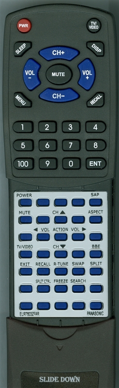 PANASONIC EUR7603ZFAR Custom Built Replacement Redi Remote