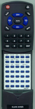 PANASONIC EUR7613Z40 Custom Built Replacement Redi Remote