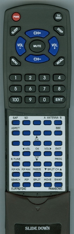 PANASONIC EUR7627Z40 Custom Built Redi Remote