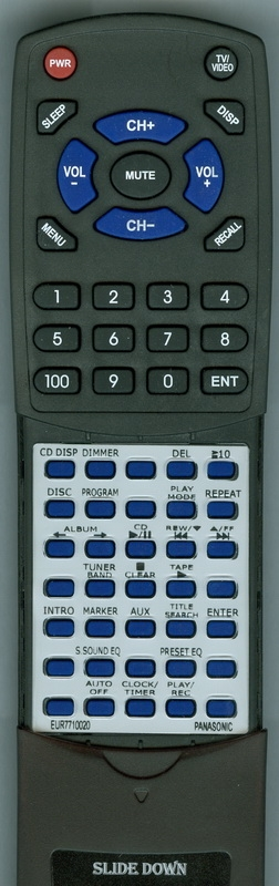 PANASONIC EUR7710020 Custom Built Redi Remote