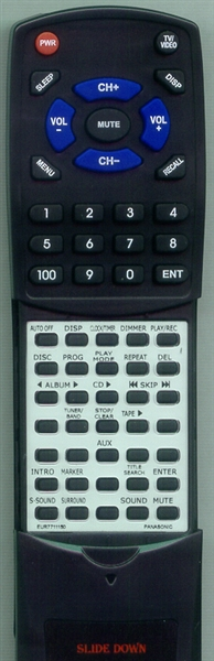 PANASONIC EUR7711150 Custom Built Redi Remote