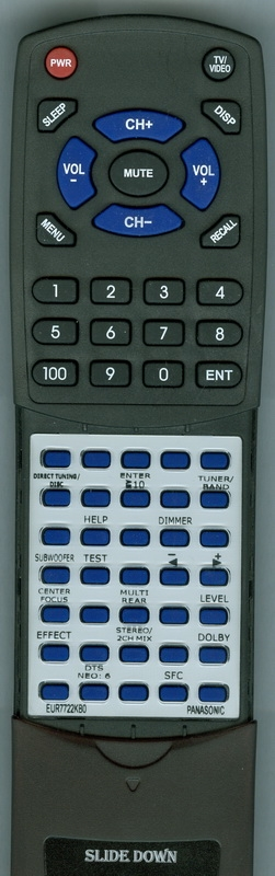 PANASONIC EUR7722KB0 Custom Built Redi Remote
