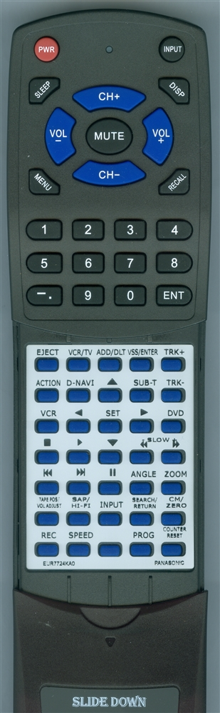 PANASONIC EUR7724KA0 Custom Built Redi Remote