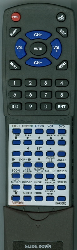 PANASONIC EUR7724KE0 Custom Built Redi Remote