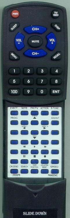 PANASONIC LSSQ0278 Custom Built Redi Remote