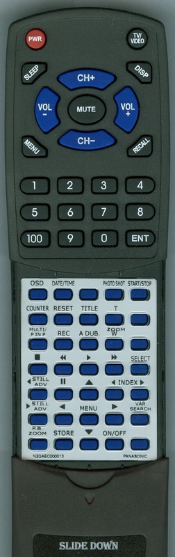 PANASONIC N2QAEC000013 Custom Built Replacement Redi Remote