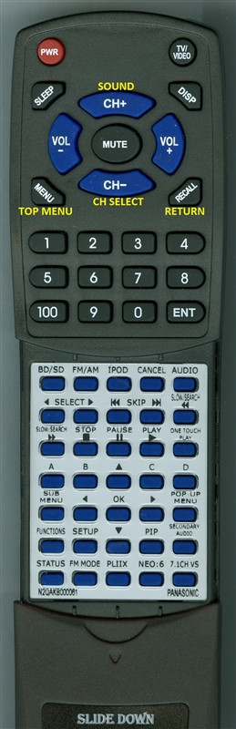 PANASONIC N2QAKB000061 INSERT Custom Built  Redi Remote
