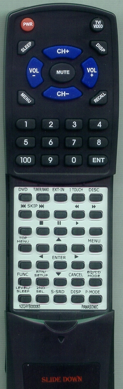 PANASONIC N2QAYB000083 Custom Built Redi Remote